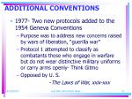 additional conventions