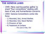 the geneva laws