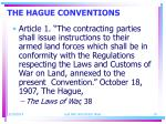 the hague conventions