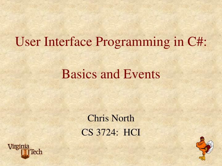 user interface programming in c basics and events n.