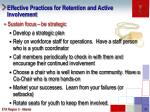 effective practices for retention and active involvement1
