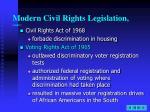 modern civil rights legislation cont