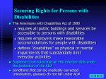 securing rights for persons with disabilities