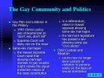 the gay community and politics