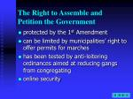 the right to assemble and petition the government