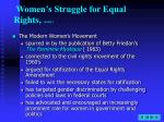 women s struggle for equal rights cont