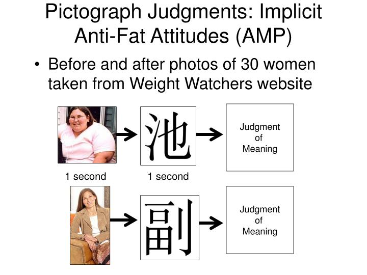 Pictograph Judgments: Implicit Anti-Fat Attitudes (AMP)
