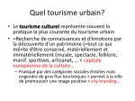 quel tourisme urbain