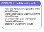gecafs in collaboration with