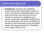livelihoods approach