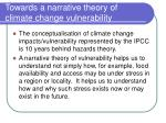 towards a narrative theory of climate change vulnerability