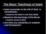 the basic teachings of islam