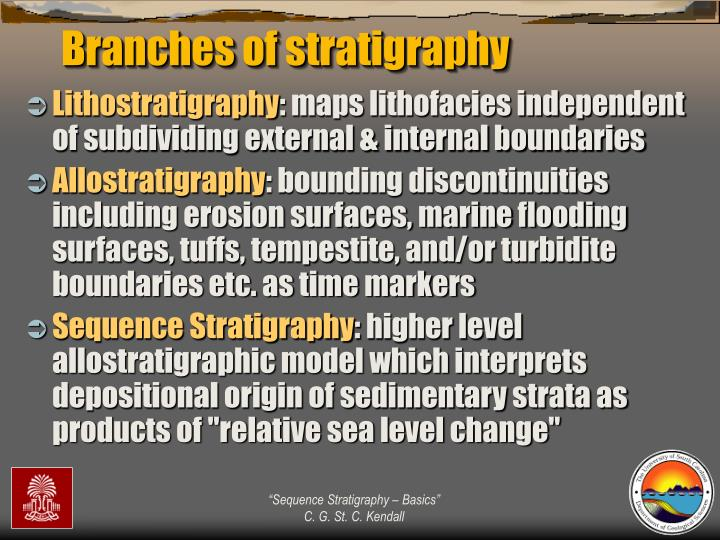 Branches of stratigraphy