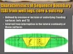 characteristics of sequence boundary sb from well logs core outcrop1