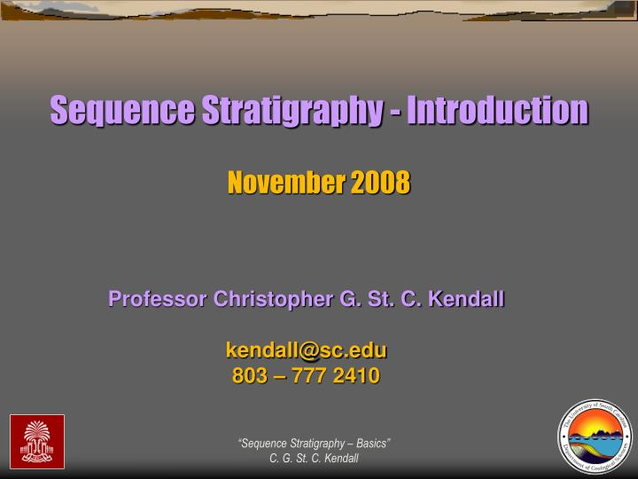 Sequence Stratigraphy - Introduction