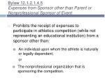 bylaw 12 1 2 1 4 5 expenses from sponsor other than parent or nonprofessional sponsor of event