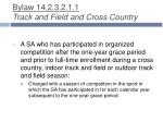 bylaw 14 2 3 2 1 1 track and field and cross country