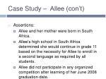case study allee con t2