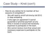 case study kirsti con t