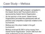 case study melissa