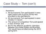 case study tom con t1