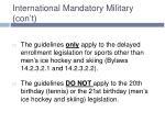 international mandatory military con t3