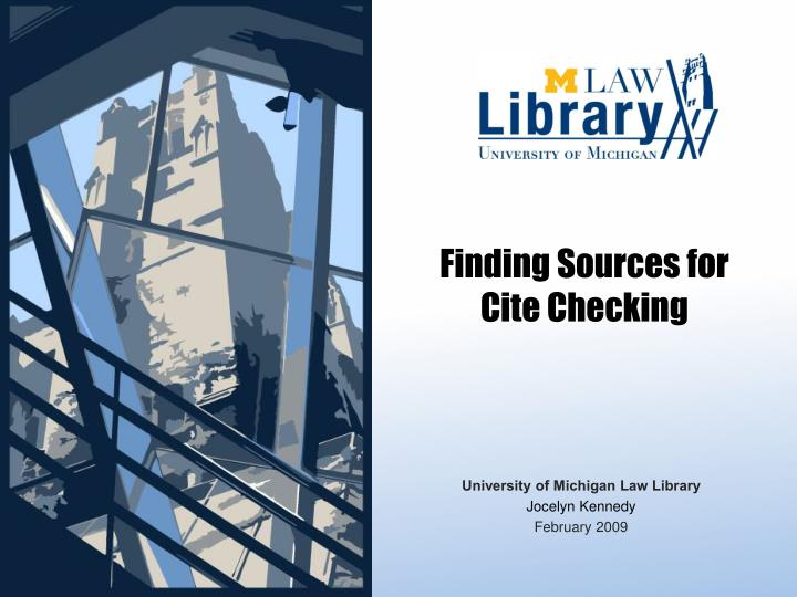 finding sources for cite checking n.