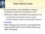 inter library loan
