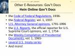 other e resources gov t docs hein online gov t docs