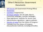 other e resources government documents