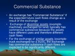 commercial substance