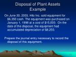 disposal of plant assets example