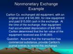 nonmonetary exchange example