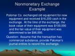nonmonetary exchange example1