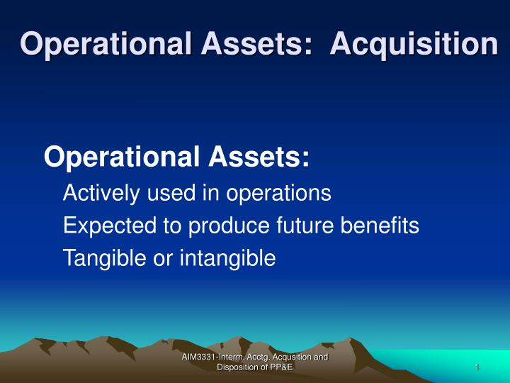 operational assets acquisition n.