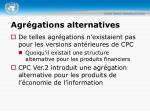 agr gations alternatives