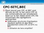 cpc sitc bec