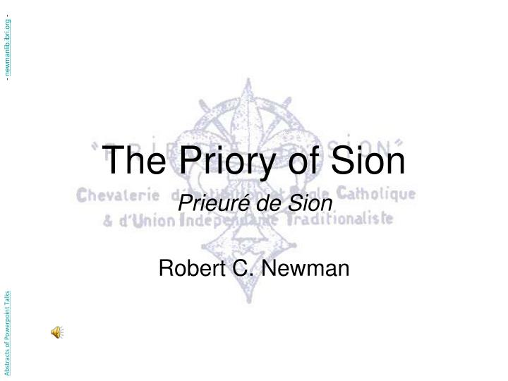 the priory of sion n.