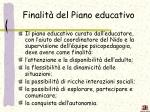 finalit del piano educativo