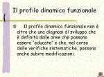 il profilo dinamico funzionale2