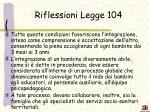 riflessioni legge 104