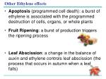 other ethylene effects