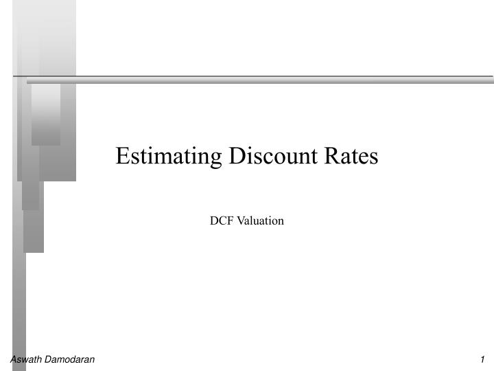 estimating discount rates n.
