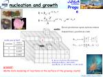 nucleation and growth