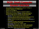 scsi small computer system interface