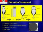 fabrication techniques i
