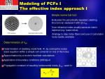 modeling of pcfs i the effective index approach i
