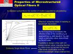 properties of microstructured optical fibers ii