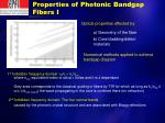 properties of photonic bandgap fibers i