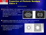 properties of photonic bandgap fibers v